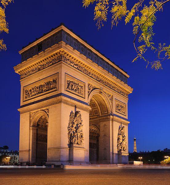 2CV Paris Tour : Visiter Paris en 2CV! Arc de Triomphe