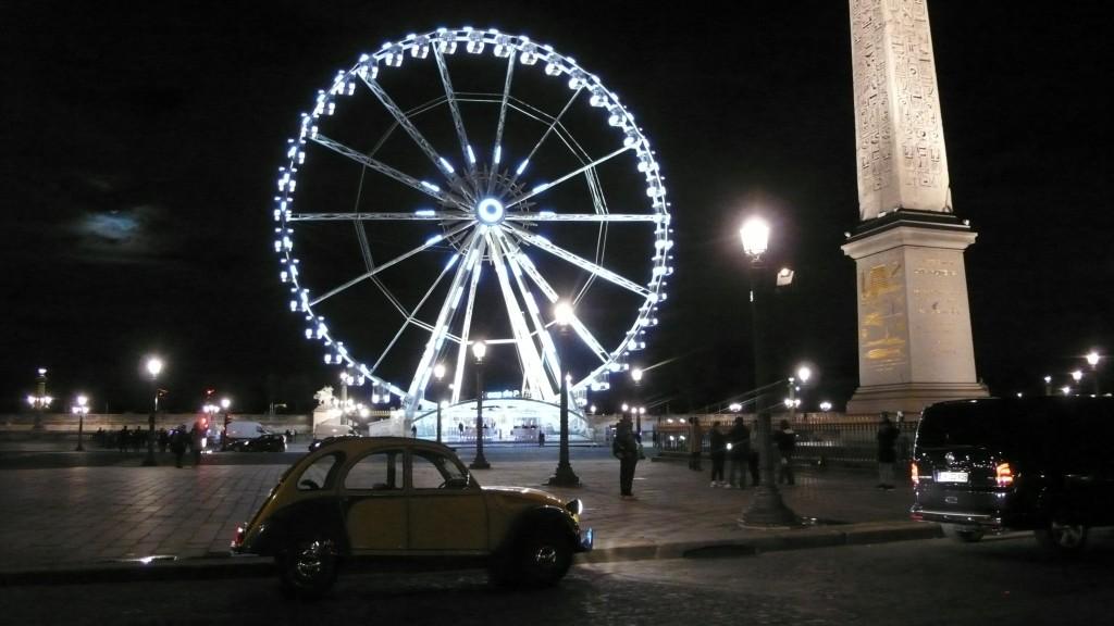 2CVParisTour : Visitez Paris en 2CV! La Grand Roue et la Place de la Concorde