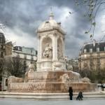 2CVParisTour : Visiter Paris en 2CV! La Place Saint Sulpice